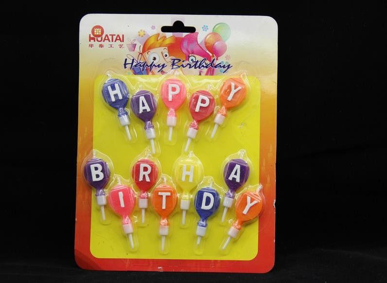 Disposable Balloon Shaped Letter Birthday Candles For Party OEM / DEM Service