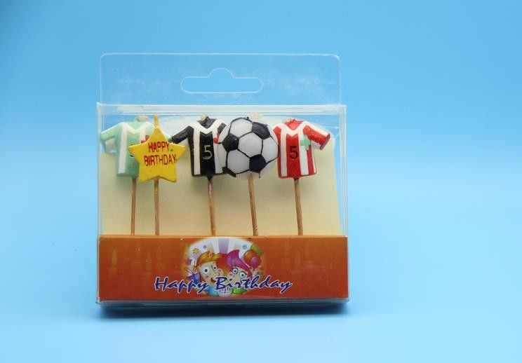 Football Suit Shaped Birthday Candles For Kids Gift Eco Friendly Smokeless